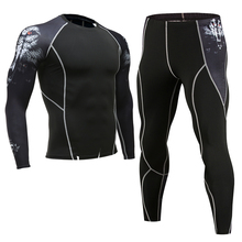 Cycling base layer sets men sport jerseys compression tight underwear gym jogging football training bicycle fitness wolf suit