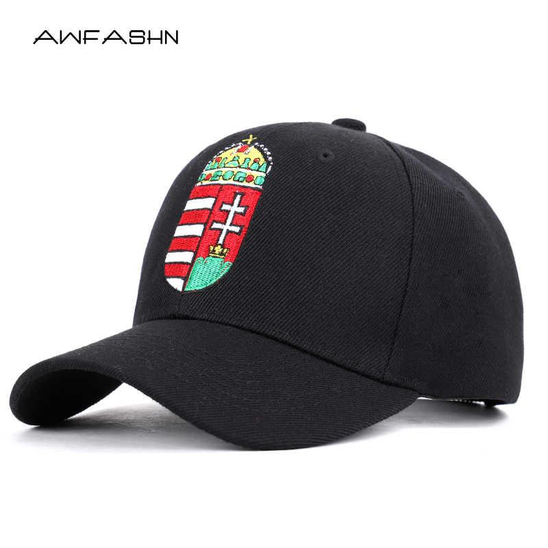 76ddf7dfb Men Women solid color hat Hungarian flag embroidery baseball cap Caps dad  Bone White Black Couple Snapback Sun Visor