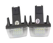 1Pair 18LED Car LED License Plate Lights Number Plate Lamp for Peugeot 206/207/406/407 Citroen C3/C4/C5 все цены