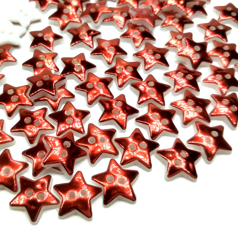 HL 50/100 قطعة 12 مللي متر نجمة 2 ثقوب أزرار بلاستيك الأطفال ملابس الخياطة اكسسوارات DIY سكرابوكينغ الحرف 2