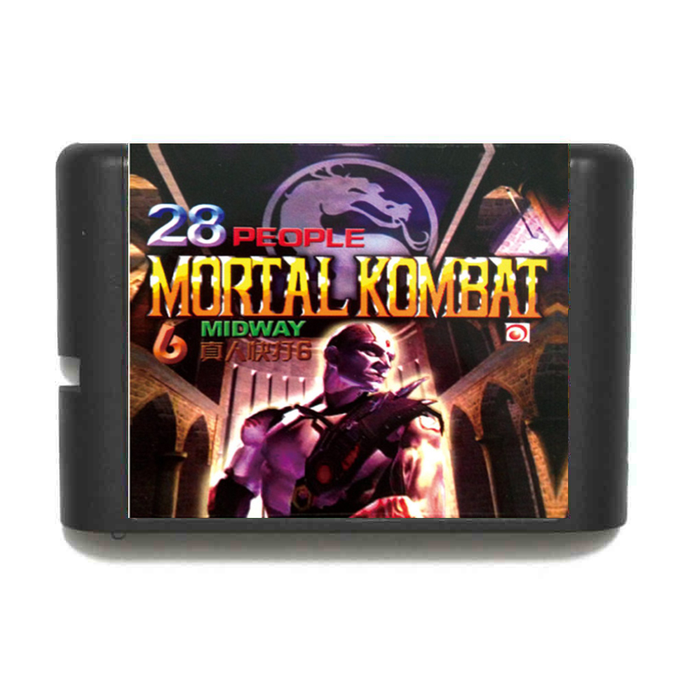 Mortal Kombat 6 Midway 28 People 16 bit MD Game Card For Sega Mega Drive For Genesis
