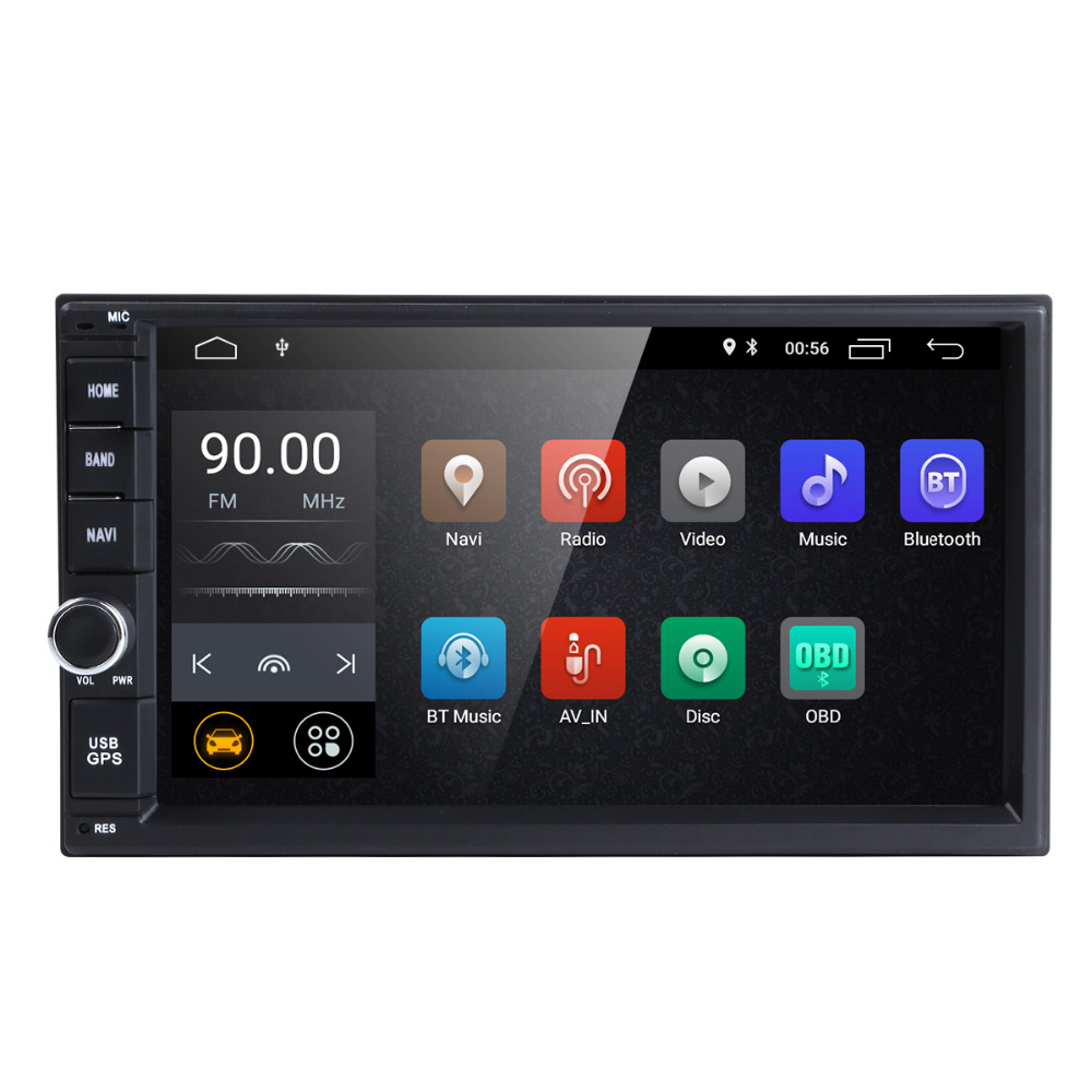 7 pouces 2 Din Android 8.1 Voiture NO-DVD Radio Lecteur Multimédia 1024*600 GPS Navigation autoradio Stéréo Audio