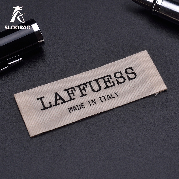 1000pcs A Lot Customized/custom Printing Cotton Label Straight Cutted Logo Printing Tags Kids Clothes Labels