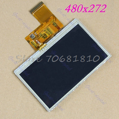 New 4.3 TFT LCD Module Display + Touch Panel Screen #K400Y# DropShip 0802 lcd display module