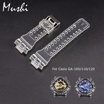 Mushi Genuine Leather Watchbands Xem Dây Đeo Đồng Hồ Trường Hợp Kim Loại Buckle Cho Casio GA-'s' s GA-GA-120 's GD-100' s GD-110 g-sốc Đồng Hồ Phụ Kiện