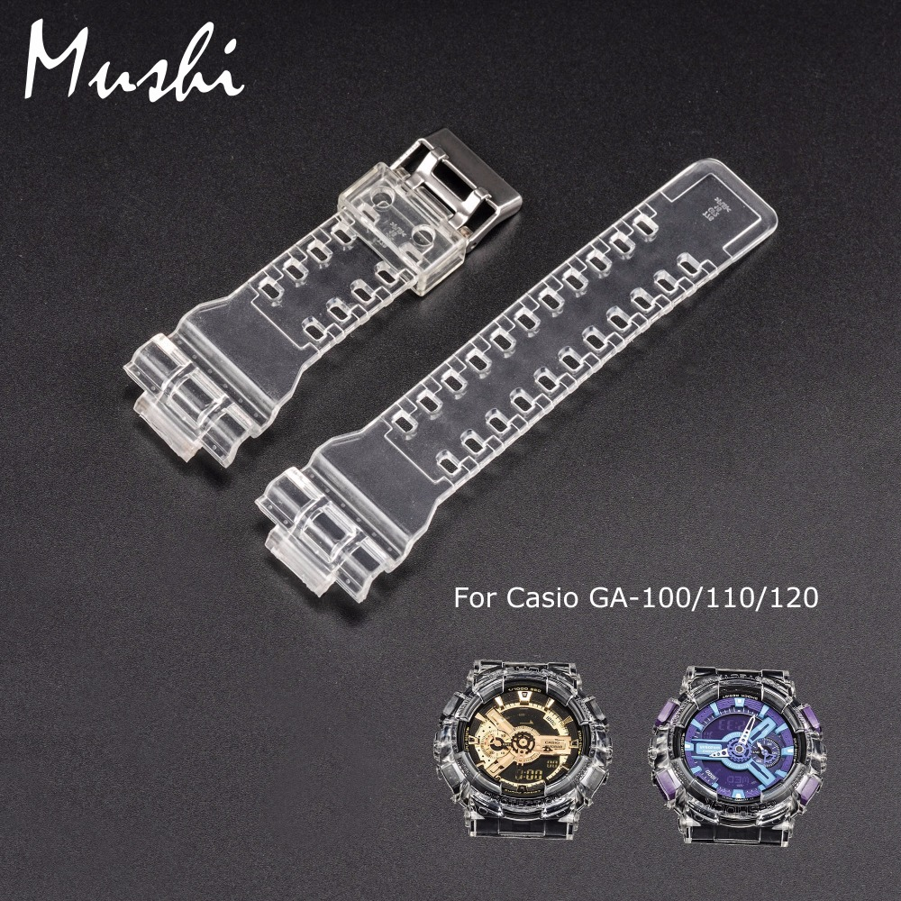 Mushi Watchbands Watch Strap Watch Case Metal Buckle For Casio GA-110\GA-100\GA-120\GD-100\GD-110 g-shock Watch Accessories цена