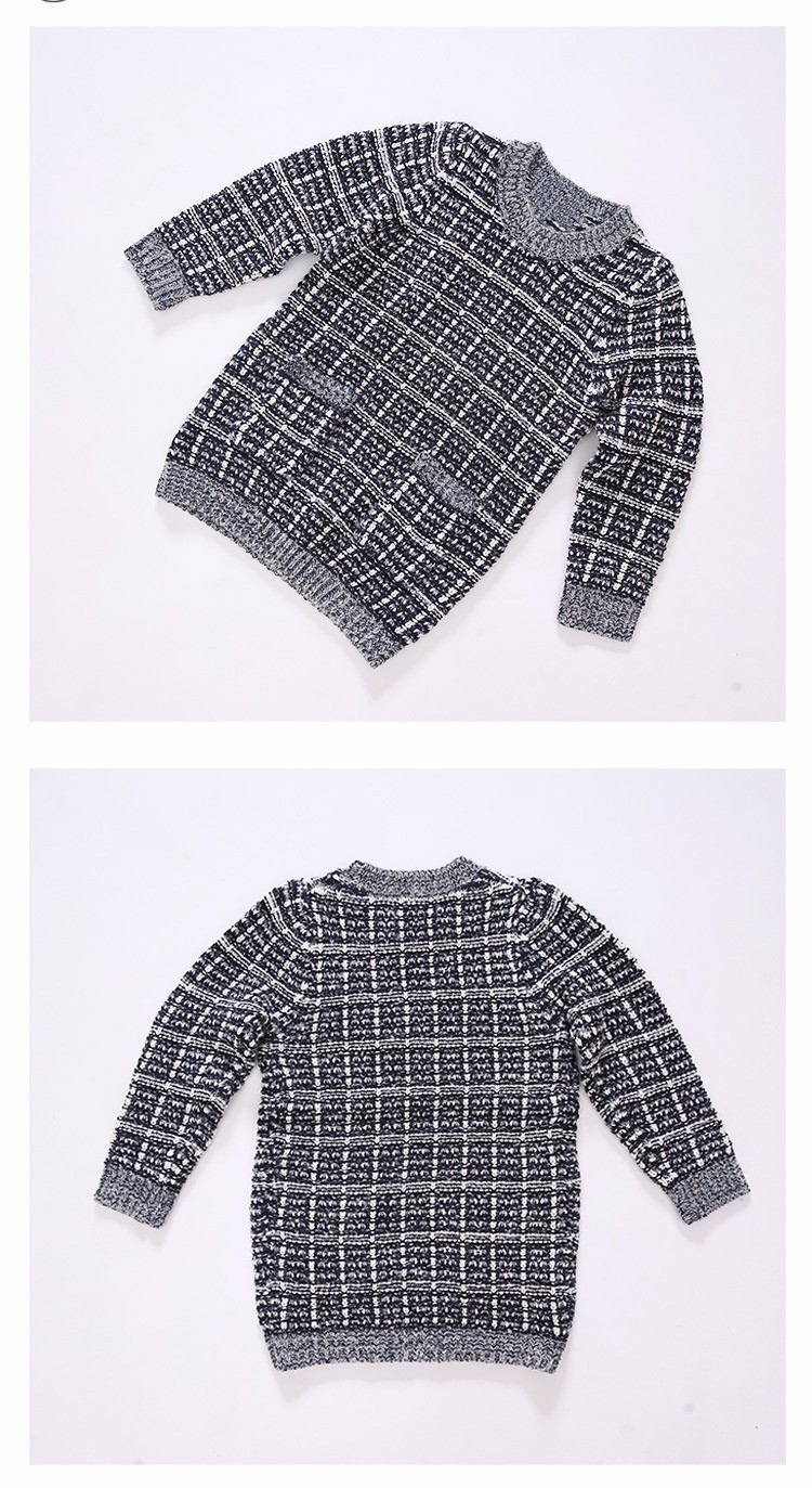 plaid knitting children sweater girl pullovers tops long sleeve autumn 2016 pockets knitted sweater for girls o-neck fall clothes 5 6 7 8 9 10 11 12 13 14 15 16 years old little big teenage girls children sweater girl 2016 (7)