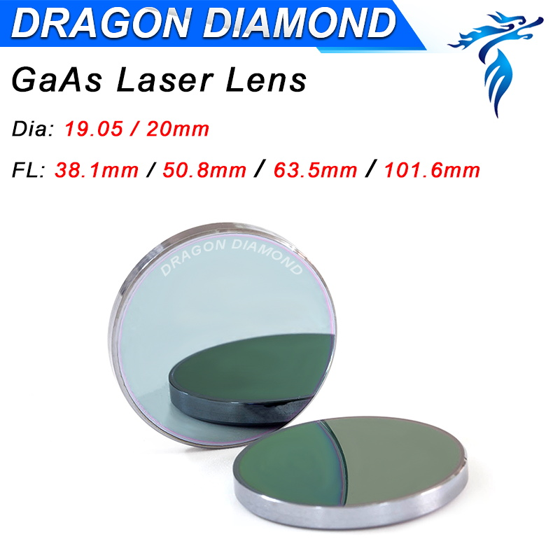 Top Quality GaAs Focus Lens 18mm 19.05mm 20mm Dia 50.8mm 63.5mm 101.6mm Co2 Laser Lens For Co2 Laser Cutting Engraving Machine high quality gaas focus lens for co2 laser engraving cutting machine dia 20mm fl 38 1mm 1 5 free shipping