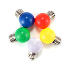 Coloured E27 0.5W Energy Saving 6 LED Light Bulbs Globe Lamp DIY 5 color Bright(China)