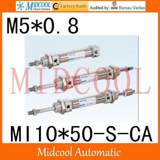 MI Series ISO6432 Stainless Steel Mini Cylinder  MI10*50-S-CA bore 10mm port M5*0.8 купить в екатеринбурге переходник mini iso