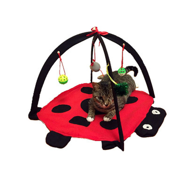 Pet Cat Toys Foldable Cats Tent Sleeping Bed Training Mobile Activities Amusement Toys with Hanging Mouse  sc 1 st  AliExpress.com & Pet Cat Toys Foldable Cats Tent Sleeping Bed Training Mobile ...