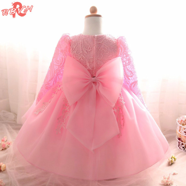 dc632ecd1a8e6 US $11.22 8% OFF|RBVH 2018 Lace Princess Dress For Girls Winter Flower Girl  Wedding Gown Children Clothing Kids Party Design For Girls Clothes-in ...
