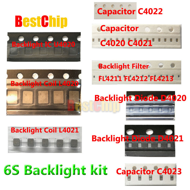 13pcs/lot for iphone 6s backlight ic U4020 + Coil L4020 L4021 +Diode D4020 D4021+Capacitor C4023 C4021 C4022 +Filter FL4211 -13
