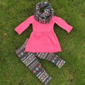FALL OUTFITS persnickety girls 3 pieces sets girls pant sets girls boutique clothes kids hot pink top sets