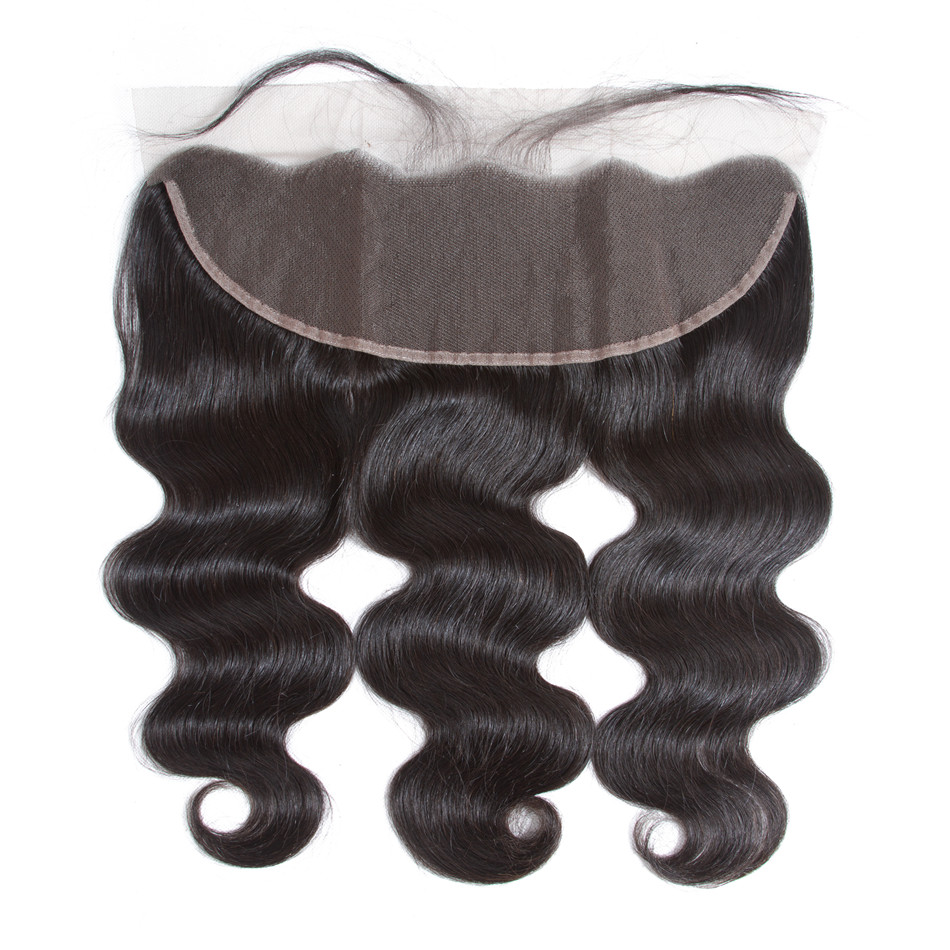 Ably Hair Extensions Body Wave Lace Frontal Closure Pre plucked With Baby Hair 100 Remy Human