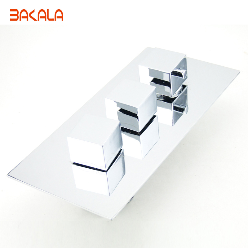 Bakala Thermostatic Shower Faucet Mixing Valve 4 function valve Concealed Easy mount Box Brass Concealed Valve