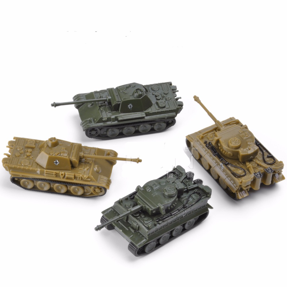 1:144 4D Classic Tank Model of World War II Finished Model Type Tiger / Leopard Sand Table Plastic Tanks Toy