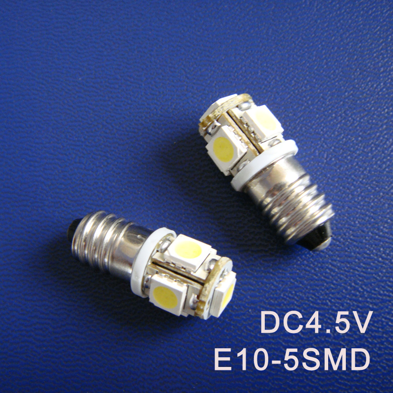 High quality DC4.5V E10 Led Warning Signal Indicating Lamp Pilot lamp Instrument Light pinballs Bulbs free shipping 20pcs/lot