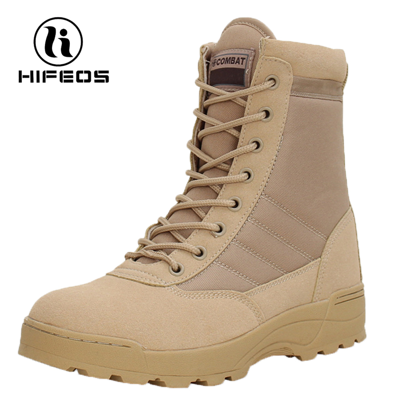 HIFEOS men high-top swat quick release climbing boots outdoor hiking shoes desert trekking sneakers breathable anti-slip M024 hifeos outdoor hiking shoes anti slip boots lace invisible increased men s shoes comfortable breathable sneakers climing m065
