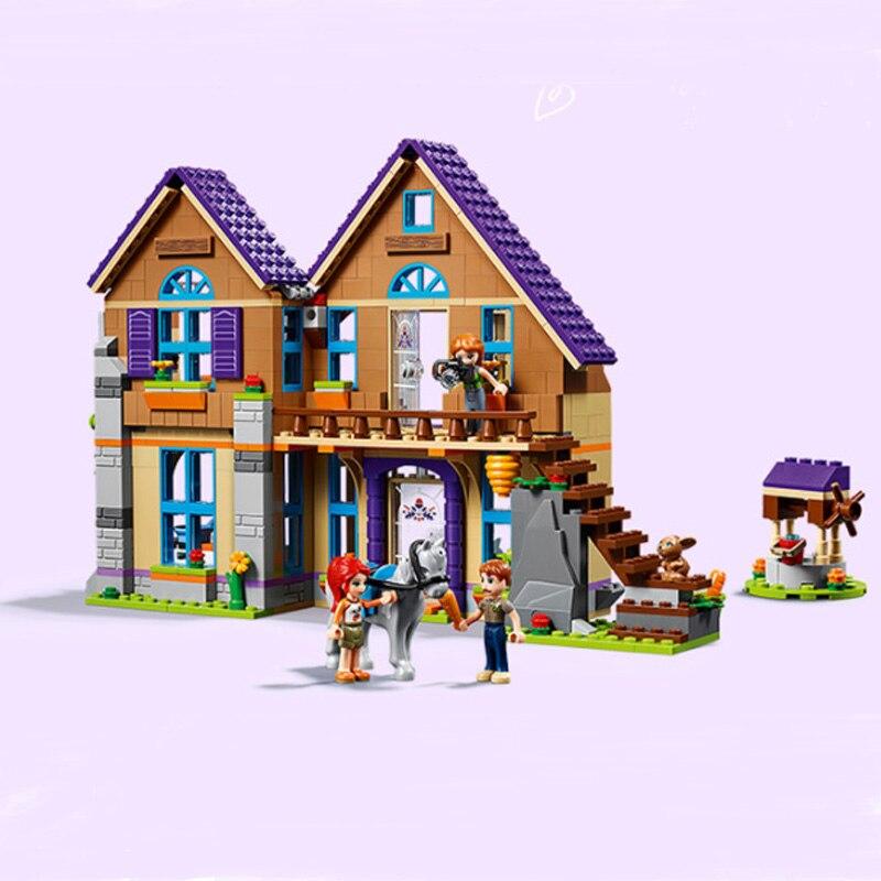 2019 NEW 801pcs Friends Villa Girls Forest House Building Blocks Sets Model Compatible Friends 01081