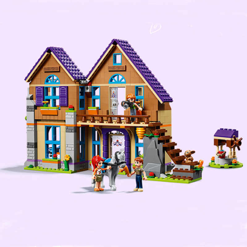 2019 NEW 801pcs Friends Villa Girls Forest House Building Blocks Sets Model Compatible Friends 01081