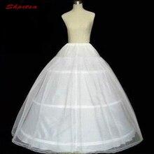ลูกบอลสีขาวชุด 3 Hoops Petticoat สำหรับงานแต่งงานชุด Fluffy Crinoline ผู้หญิงกระโปรงหญิง Hoops กระโปรง Pettycoat