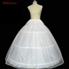 الأبيض الكرة ثوب 3 الأطواق ثوب نسائي لفستان الزفاف رقيق كرينولين امرأة تنورة الفتيات الأطواق تنورة ثوب نسائي