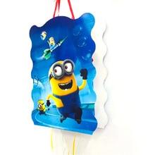 40*30cm Minions Pinata Cartoon Figure Funny Whistles Childrens Birthday Party Dragon Kids Baby Supplies Sets