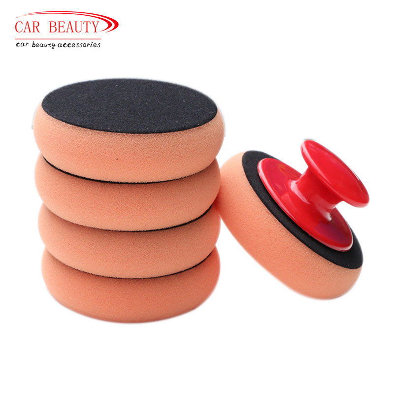 5Pcs/Set Car Wash Wax Polish Pad Polishing Pad Sponge Car Cleaning Cloth Microfiber Applicator Pads For Pulidora De Coche