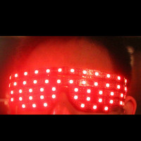 Cool Colorful Led Sunglasses Luminous Flashing Glowing Party Halloween DJ Club Glasses Can Change 7 Colors Led Stage Eyewear