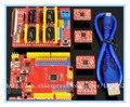 Kit placa de desarrollo de impresora 3D escudo V3 + rojo UNO 4 unids A4988 + 40 CM transparente azul cabo USB