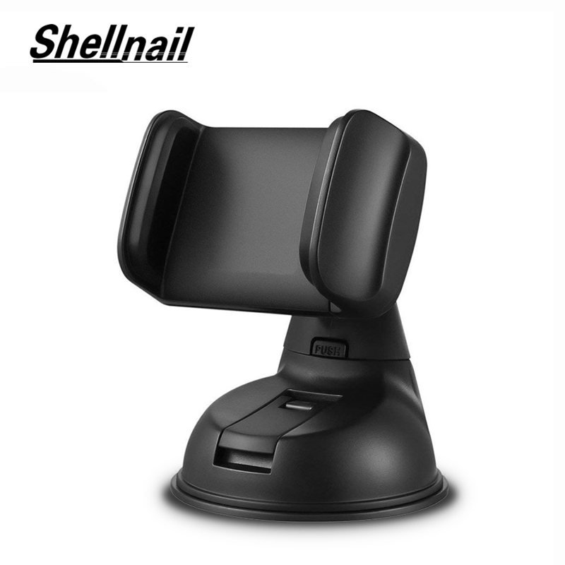 SHELLNAIL Mobile Phone Dashboard Suction Cup Holder Stands Car Windshield Mount Phone Holders For iPhone Smartphone