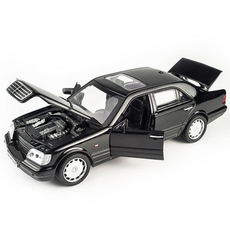 Mercede-Ben S W140 1:32 Alloy Model Car Sound Light Pull-back Light Sound Alloy Vehicle Model Toys For Children