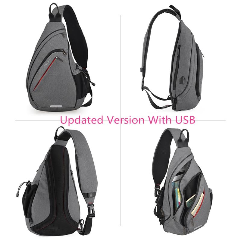 Image 5 - Mixi Men Sling Backpack One Shoulder Bag Boys Student School Bag University Work Travel Versatile 2019 Fashion New Design M5225Backpacks   -