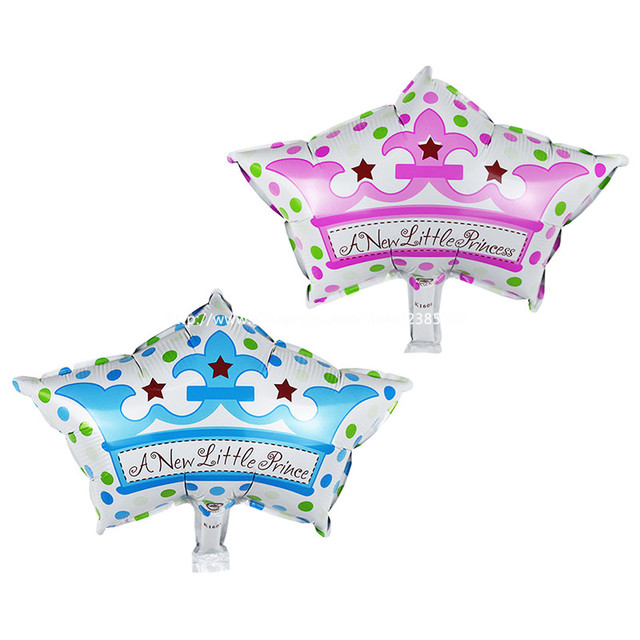 10pcslot Baby Shower Foil Balloonsa New Little Princeprincess