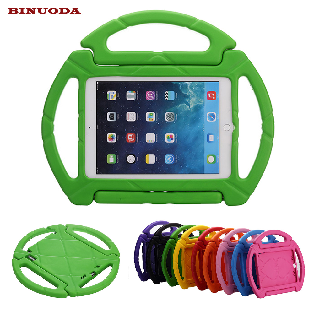 For Fundas New iPad 9.7 Cover Kids Shock Proof Steering Wheel Case with Handle for New iPad 9.7 Tablet 2017 Released