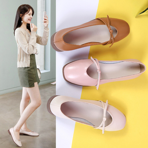 Image 5 - STQ 2020 Autumn Women Ballerina Flats Genuine Leather Shoes Slip On Loafers Women Flats Woman Grandmother Loafers Shoes 1901