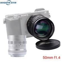 Brightin スター 50 ミリメートル F1.4 大口径標準プライムマニュアルフォーカス MF レンズ用 X A10 A20 A5 A3 X T20 t10 T3 T2 X PRO2 X E3