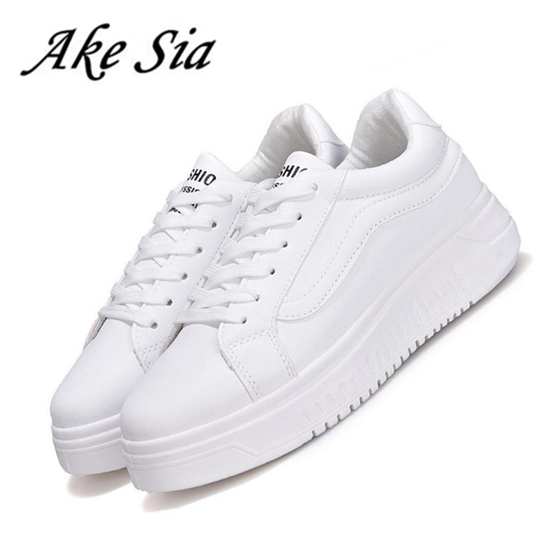 HOT Autumn winter during the increase in girls white shoes students casual sneakers shoes female thick non- slip shoes F203