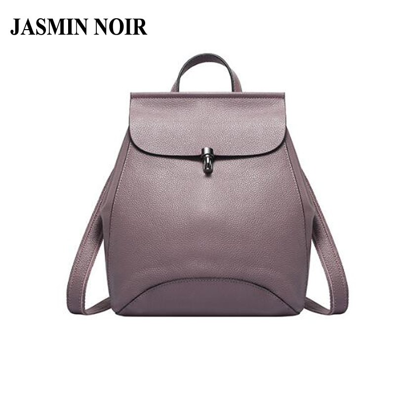 Brand Designer Fashion Women Backpack High Quality Daypack Genuine Real Cow Leather School Bag Girls Large Shoulder Travel Bag 2017 brand designer women simple style backpack fashion pu leather black school bag for girls large capacity shoulder travel bag