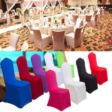 High Quality Universal Chair Covers Stretch Polyester Spandex For Party Banquet Hotel Weddings Decoration Decor TB Sale(China)