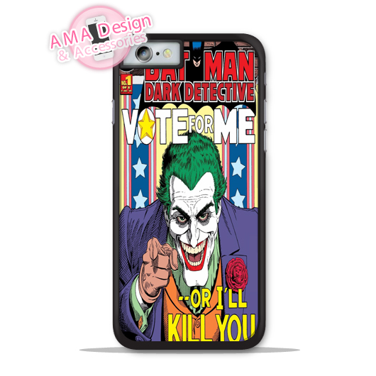 Joker Vote Me Funny Phone Cover Case For Apple iPhone X 8 7 6 6s Plus 5 5s SE 5c 4 4s For iPod Touch