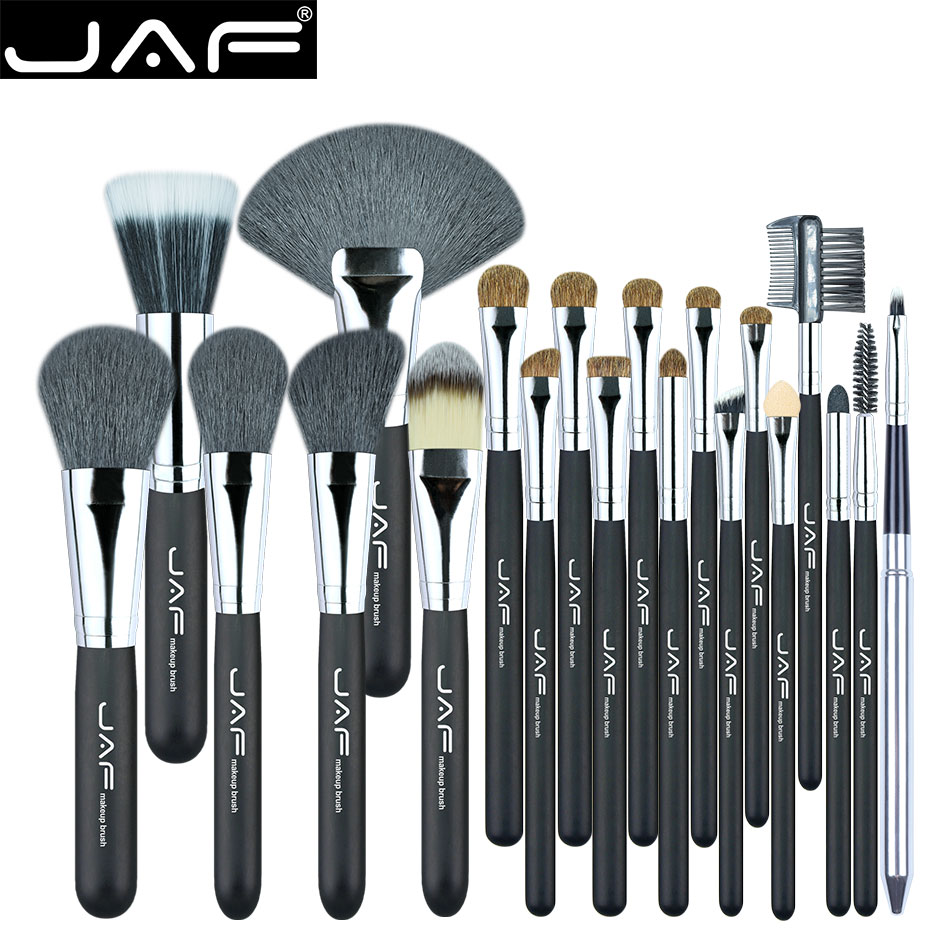 JAF Studio 20 Pcs/ensemble Makup Brosses Premiuim Naturel Cheveux de de chèvre et Poney Cheval Super Doux Maquillage Brush Tool Set J2001PY-B