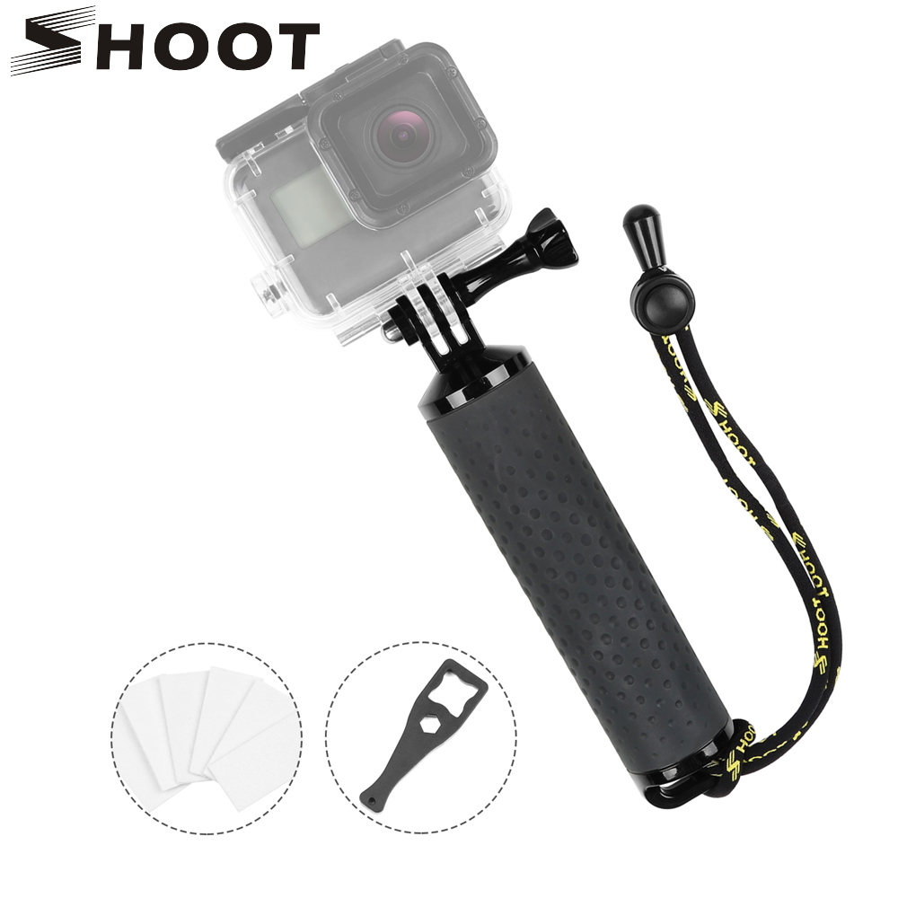 SHOOT Waterproof Floating Hand Grip for GoPro Hero 7 5 6 Black Sjcam Sj4000 M10 Xiaomi Yi 4K Eken H9 Go Pro Hero 7 6 5 Accessory for go pro floating bobber hand grip for gopro hero 5 4 xiaomi yi float pole handle slefie stick for sjcam sj4000 action camera