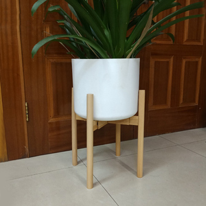 Image 2 - Newly Adjustable Plant Stand Holder Rack Wooden Sturdy for Flower Potted Indoor Outdoor