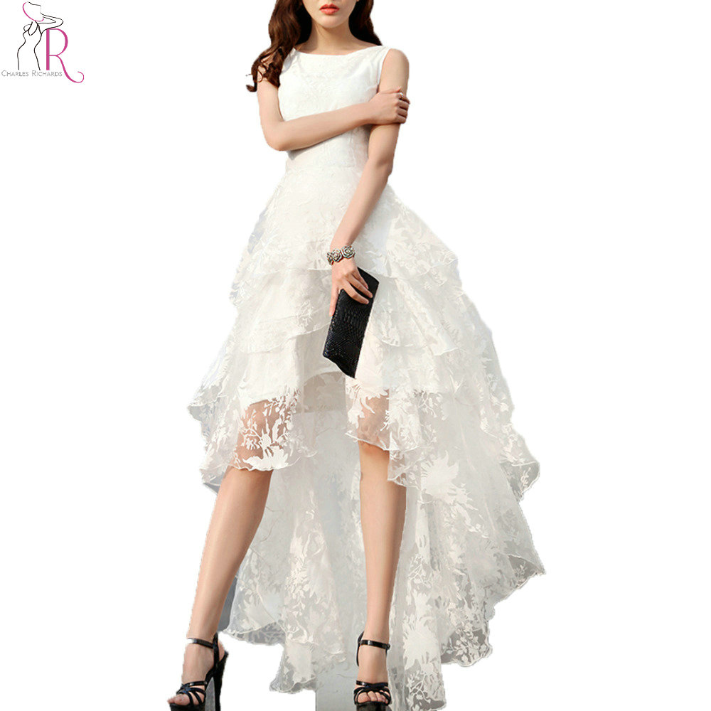 High low hem dress white.