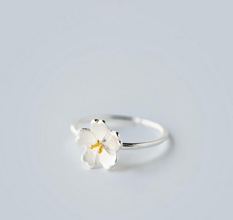 yiustar Új érkezési gyűrűk a nőknek Szép virág nyitott - Divatékszer - Fénykép 1
