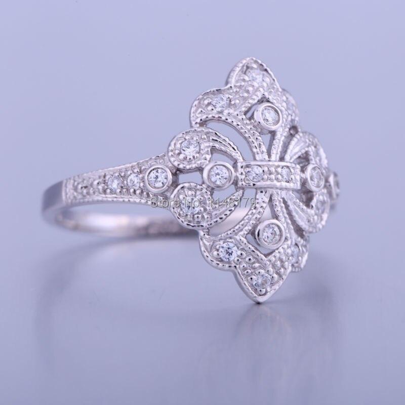 HELON Bijoux anneaux de mariage pour les femmes AAA classé cubique zircone Bijoux en argent Sterling 925 anneau Bijoux Femme