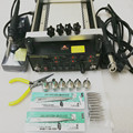 3 in 1 Digita Hot Air Heat Gun BGA Rework Solder Station + Electric Soldering iron + IR Infrared Preheating Station