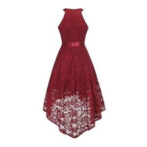 Image 2 - OML 526J # フロントショートロングバックワインレッドホルターボウウエディングドレス結婚式パーティードレスウエディングドレス卸売ファッション服